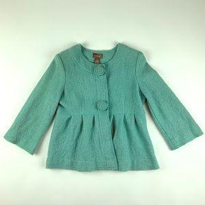 KENAR Women's Pastel Green Glam Fashionable Jacket